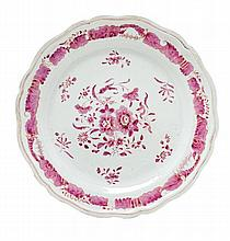 A Chinese Export Porcelain Platter Diameter 16 1/4 inches.
