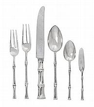 A Group of American Silver Flatware, Tiffany & Co., New York, NY, Late 20th Century, Bamboo pattern, comprising 1 dinner knife 1 dinner
