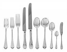 A Group of American Silver Flatware, Tiffany & Co., New York, NY, 20th Century, Flemish pattern, comprising 4 dinner knives 5 salad for