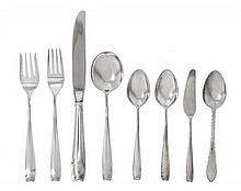 A Group of American Silver Flatware, Tiffany & Co., New York, NY, Circa 1960, Cordis pattern, comprising 1 lunch knife 1 lunch fork 1 s