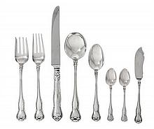 A Group of American Silver Flatware, Tiffany & Co., New York, NY, 20th Century, Provence pattern, comprising 1 lunch knife 1 lunch fork