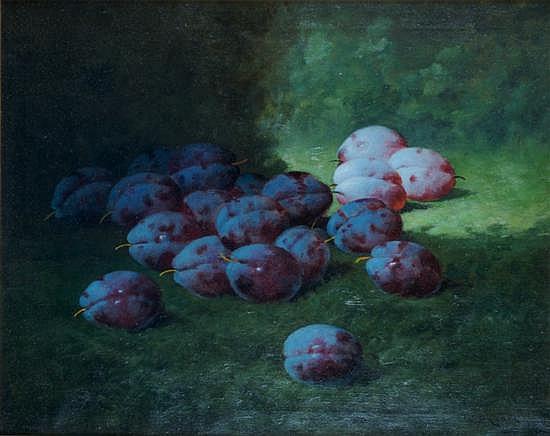 Carducius Plantagenet Ream, (American, 1837-1919), Plums