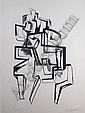 *Ossip Zadkine, (Russian/French, 1890-1967), Cubist Figure
