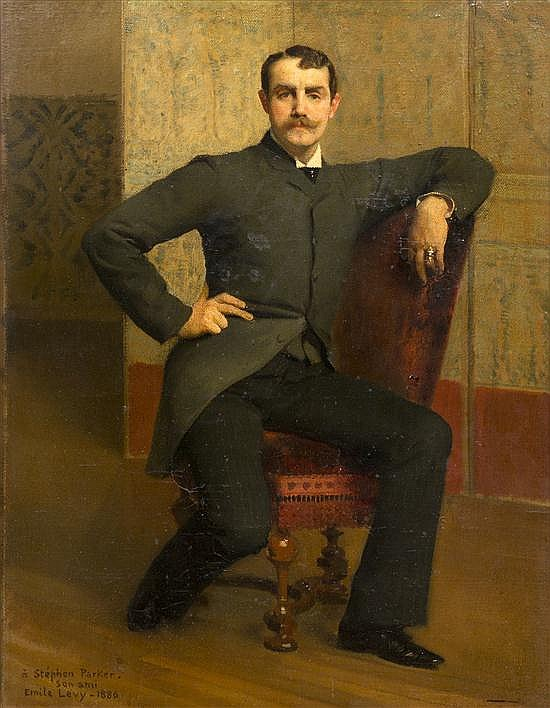 * Emile Levy, (French, 1826-1890), Portrait of Stephen Parker, 1885