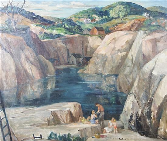 Ann Brockman, (American, 1899-1943), Quarry Sunset, circa 1940