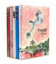 * CHAGALL, MARC. Chagall Lithographe I-IV and VI. Monte Carlo; NY, 1960-1986. With 28 original lithographs.
