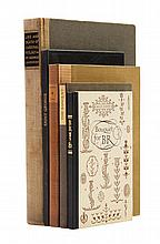 (ROGERS, BRUCE) Five books designed by Bruce Rogers.