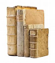 * (VELLUM) A group of four vellum bound books.