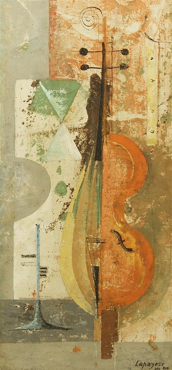 Jose Ramon Lapayese del Rio, (Spanish, b. 1928), Violin