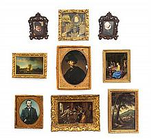 * Fifteen Framed Printed Works of Art, Largest: 3 3/4 x 2 7/8 inches.
