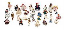 * A Collection of Dolls, Height of tallest 2 1/2 inches.