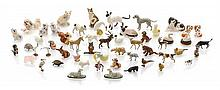 * A Collection of Animalier Figures, Length of standing Siamese cat 2 3/8 inches.