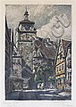 Paul Von Coberg Sollmann, (German, b. 1886), Rothenburg Street Scenes (two works), Paul Sollmann, Click for value