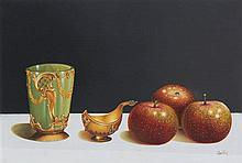 Jaggu Prasad, (Indian, b. 1963), Still Lifes with Fruit, (two works)