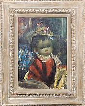 Jean Calogero, (Italian, 1922-2001), Doll in Red