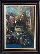 Jean Calogero, (Italian, 1922-2001), Doll with Clown Hat and Fish Bowl