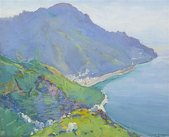 *Margaret Jordan Patterson, (American, 1867-1950), The Promontory (View of Bay from Above)