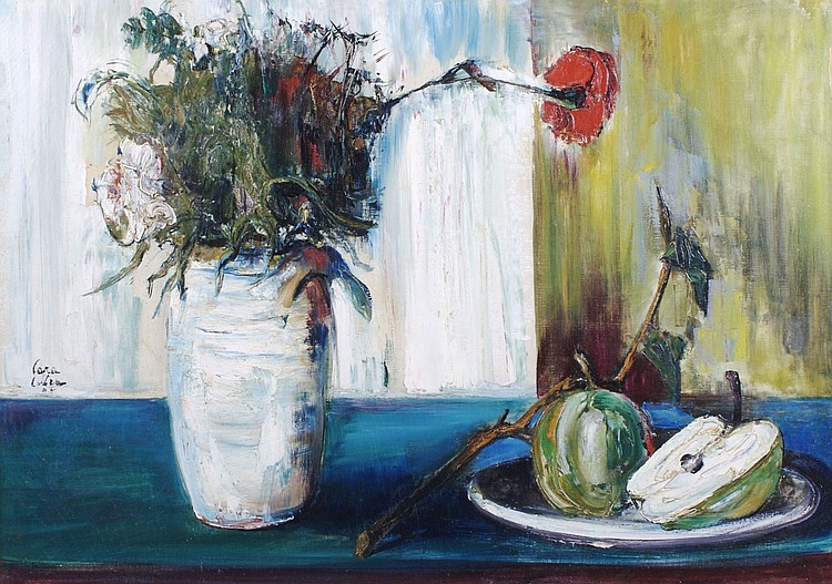 Philippe Cara-Costea, (French, b. 1925), Still Life with Apple