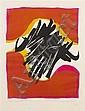 *Edo Murtic, (Croatian, 1921-2004), Linographie, 1970