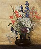 *Hermann Dudley Murphy, (American, 1867-1945), Flowers on Gold, 1923, Herman Murphy, Click for value