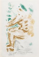 Andre Masson, (French, 1896-1987), Seated Figure