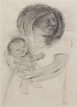 Unknown Artist, (20th century), Mother and Child, 1950