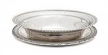 An American Silver Tray, Diameter 9 1/2 inches.