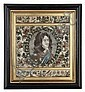 *An English Stumpwork Panel, Height 15 x width 12 1/2 inches.