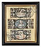*A Group of Three English Stumpwork Panels, Height overall 21 3/8 x width 18 1/4 inches.