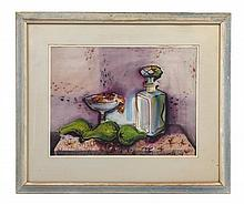 John Coleman, (20th Century), Still Life with Decanter and Compote, 1951