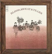 A Blood Sweat and Tears Self Titled, Sealed, Promotion Only LP. Height 15 1/2 x width 15 inches.