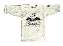 A Child's Caribou Ranch Long Sleeve Cream Shirt from the 1970s. Size: L (14-16).