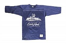 A Child's Caribou Ranch Long Sleeve Navy Shirt from the 1970s. Size: M (10-12).
