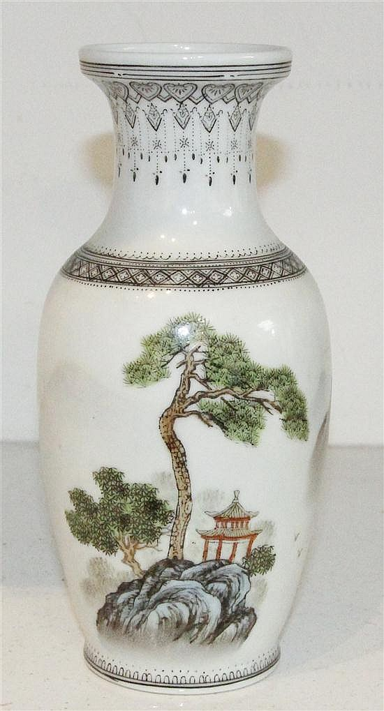 * A Chinese Porcelain Vase, Height 8 1/4 inches.