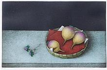 Tomoe Yokoi, (Japanese, b. 1943), Onion Still Life