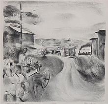 Francis Chapin, (American, 1899-1965), Morning Train