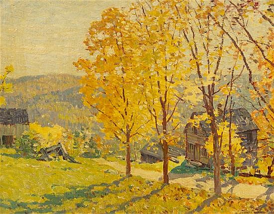 Everett Longley Warner, (American, 1877-1963), Fall Country Day