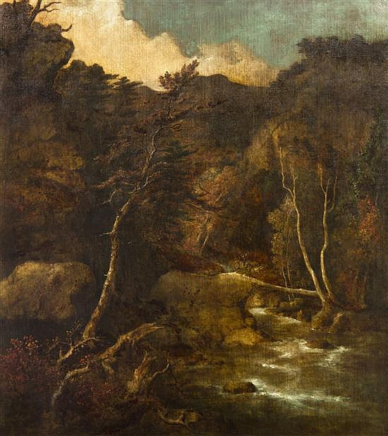 George Inness, (American, 1825-1894), Mountain Torrent, c. 1852-3