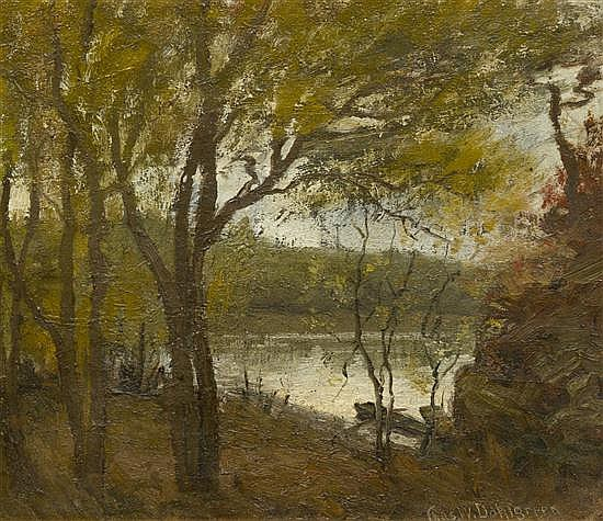 Charles William Dahlgreen, (American, 1864-1955), Woodland Pond