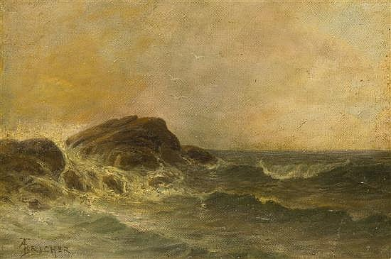 Alfred Thompson Bricher, (American, 1837-1908), Catching Surf