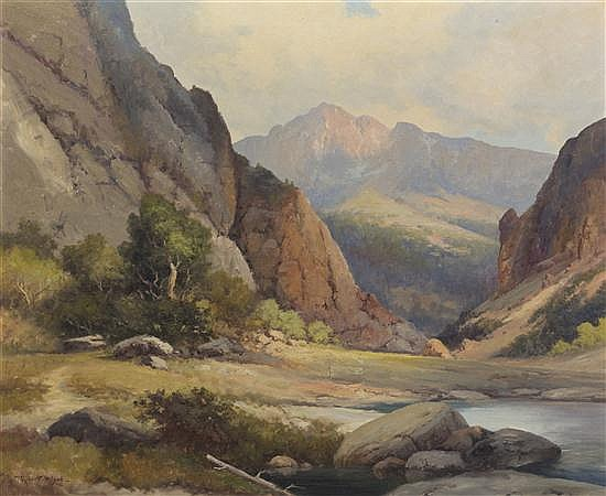 Robert William Wood, (American, 1889-1979), View Through the Canyon