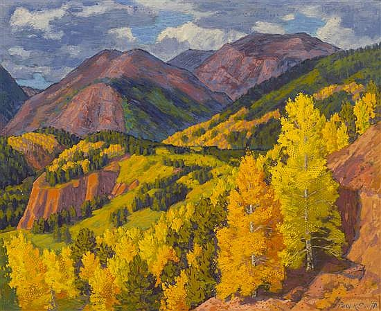 Paul Kauvar Smith, (American, 1893-1973), Mountain Landscape