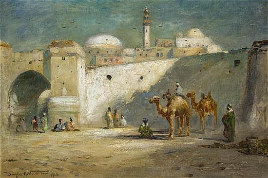 Douglas Arthur Teed, (American, 1863-1929), Camels, 1925