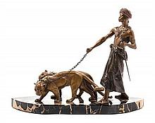 An Austrian Bronze Figural Group FRANZ BERGMAN (1861-1936) Height overall 9 x width of base 12 inches