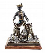 An Austrian Cold Painted Bronze Figural Group Height 5 3/4 inches.