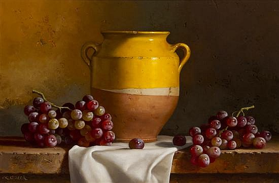 Loran Speck, (American, b. 1943), Grapes with Confit Jar