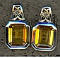 CITRINE SQUARE SILVER EARRINGS