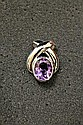 14k Gold Purple Amethyst Pendant