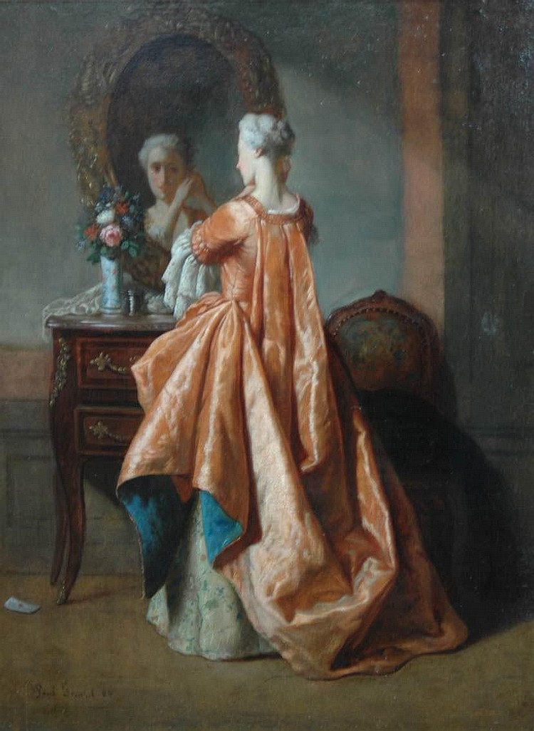 Paul Gerard (19th century) A woman at her dressing