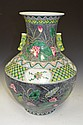 Antique Chinese Famille Noir Black Background Porcelain